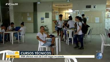 IFBA abre inscrições para mais de cinco mil vagas em cursos técnicos - Oportunidades estão disponíveis em várias cidades baianas. Confira.