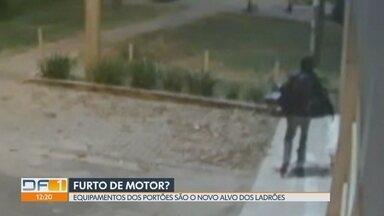 Ladrões furtam motores de portão no Guará - Morador conta que, há quatro anos, é alvo dos criminosos. População também denuncia outros crimes como furto de casa, de rodas de carros e de assaltos.