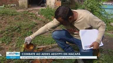 Cerca de 4 mil casas com médio risco para dengue são visitadas em ação de combate - Trabalho desta quinta-feira (18) ocorreu em regiões de Macapá onde infestação do Aedes aegypti pode ser maior, segundo o último LIRAa.
