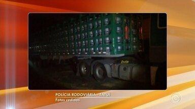 Homem é preso depois de roubar caminhão carregado com botijão de gás em Boituva - Um homem de 42 anos foi preso depois de roubar um caminhão carregado com botijão de gás, em um posto de combustíveis da Rodovia Castello Branco, em Boituva (SP), na noite desta quinta-feira (18).