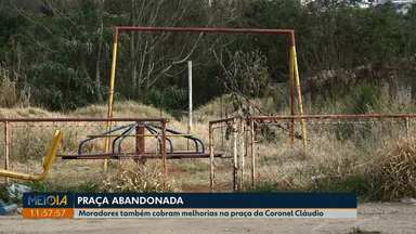 Moradores pedem melhorias em praça da vila Coronel Cláudio, em Ponta Grossa - Eles reclamam do mato alto e falta de manutenção nos brinquedos.
