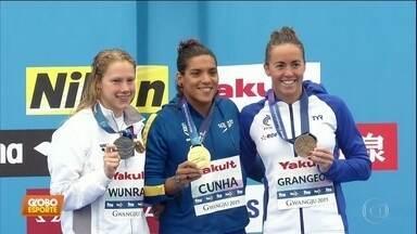 Ana Marcela é tetracampeã mundial nos 25km da maratona aquática - Ana Marcela é tetracampeã mundial nos 25km da maratona aquática