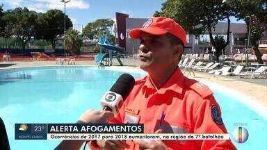 Confira as dicas dos Bombeiros para evitar afogamentos durante período de férias - Ocorrências de afogamento aumentaram.