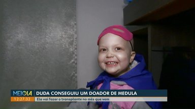 Menina com leucemia consegue um doador de medula, após campanha nas redes sociais - Duda tem quatro anos e mora em Cascavel.