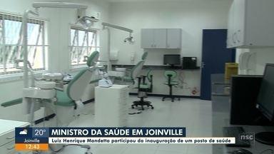 Ministro da Saúde visita Joinville - Ministro da Saúde visita Joinville