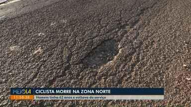 Má conservação de rua em Londrina pode ter causado morte de ciclista - Os Bombeiros suspeitam que Mário Ribeiro, de 62 anos, tenha perdido o equilíbrio e caído depois de passar por um buraco.