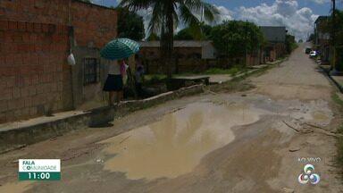 Fala Comunidade visita bairro Terra Nova em Manaus - Ruas estão sem asfaltamento