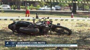 Dois motociclistas morrem em acidentes em vias do DF - Um homem de 32 anos morreu no Eixão Norte e um de 27 na BR-020.