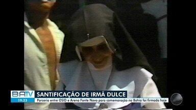 Parceria entre OSID e Arena Fonte Nova confirma missa de santificação de Irmã Dulce - O evento irá celebrar a canonização da primeira brasileira a receber o título de santa pelo Vaticano.