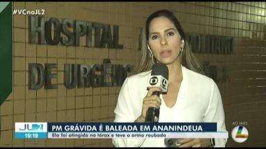 PM grávida é baleada no tórax em Ananindeua - A arma da policial foi roubada.