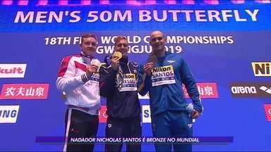 Nicholas Santos é bronze no Mundial de Esportes Aquáticos na Coreia do Sul - Nicholas Santos é bronze no Mundial de Esportes Aquáticos na Coreia do Sul