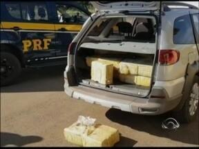 PRF apreende mais de 300 quilos de maconha em Sarandi - Três pessoas foram presas na BR 386