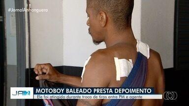 Motoboy baleado durante uma troca de tiros entre PM e agente prisional presta depoimento - Atingido por bala perdida disse que não morreu por pouco e que foi vítima de pessoas despreparadas.