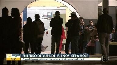 Vai ser enterrado o corpo de Yuri Juan que estava desaparecido em Itapevi - O suspeito, que era conhecido da família, se entregou à polícia
