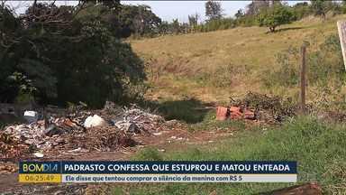 Padrasto confessa que estuprou menina - Ele disse que tentou comprar o silêncio da menina com R$ 5. O corpo dela foi encontrada no sábado (20), em Londrina.