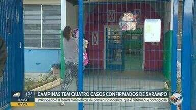 Surto de Sarampo em creche de Campinas preocupa população - A Prefeitura vai vacinar todas as pessoas que tiveram contato com os infectados