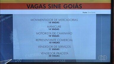 Veja as oportunidades de emprego para a Grande Goiânia - Vagas são oferecidas pelo Sine, Crea e por hospital.