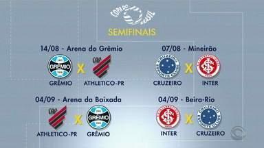 Confira as próximas partidas de Grêmio e Inter nas semifinais da Copa do Brasil - Assista ao vídeo.