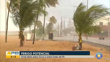 Mais de 60 cidades da Paraíba estão em alerta de perigo potencial de chuvas e ventos - Previsão é de que haja registro de até 30 milímetros de chuvas dentro de uma hora, com volume de até 50 milímetros por dia.
