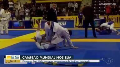 Capixaba leva título no maior campeonato de jiu jitsu do mundo - Ele foi campeão mundial nos Estados Unidos.