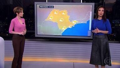 Veja a previsão do tempo para esta terça-feira (23) em São Paulo - O tempo continua seco e sem previsão de chuva. A temperatura máxima chega a 26º. Alerta de ressaca e para ondas de até 3 metros.