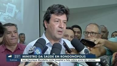 Ministro da Saúde visita Santa Casa de Rondonópolis - Ministro da Saúde visita Santa Casa de Rondonópolis