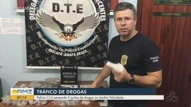 Casal é preso com cinco quilos de droga na Zona Norte de Macapá - Caso foi na noite desta segunda-feira (22) no bairro Jardim Felicidade, na região conhecida como Ponte do Jarbas. Os dois conseguiram fugir.