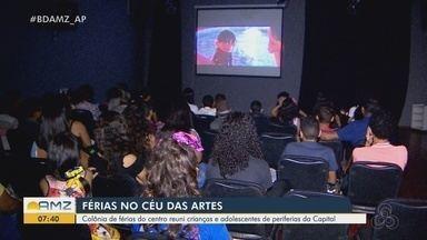 Colônia de férias do CEU das Artes garante diversão para crianças da Zona Norte de Macapá - Criançada tem acesso a cinema, esporte, brincadeiras, entre outras diversas atrações.