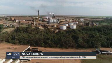 EPTV 40 anos: Nova Europa produz cerca de 570 mil toneladas de cana-de-açúcar por ano - Usina Santa Fé faz parte da história da cidade.