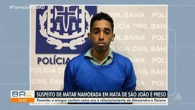 Suspeito de matar jovem em Mata de São João se entrega à polícia - Mulher de 22 anos foi morta a facadas na casa do ex-namorado em Mata de São João, há 11 dias.