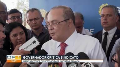 Ibaneis critica Sindicato dos Metroviários e defende concessão do Metrô - Sindicato rebateu fala do governador. Veja em que pé está o processo de concessão.