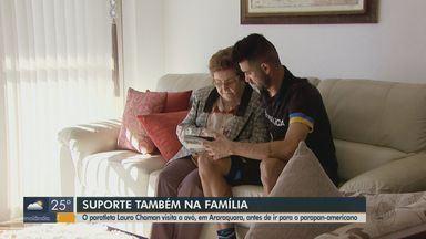 Paratleta visita avó em Araraquara antes de viajar para os Jogos Parapan-Americanos - Lauro Chaman busca suporte também na família.