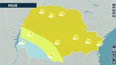 Terça-feira (23) será de tempo aberto em todo o norte do estado - As temperaturas também ficam amenas e a máxima, em Londrina, deve chegar aos 28°C.