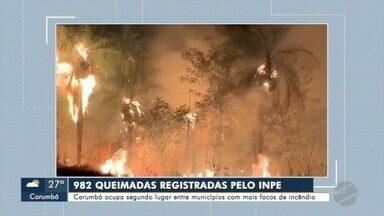 Seis incêndios registrados em menos de 24 horas - Corumbá é o segundo município com mais queimadas no País.