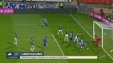 Palmeiras sai atrás, marca duas e arranca empate fora de casa contra o Godoy Cruz - Verdão se recupera e garante empate contra o Godoy Cruz pela Libertadores.