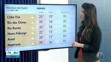 Confira a previsão do tempo para as regiões dos Lagos e Serrana do Rio - Veja as temperaturas para quinta-feira (25).