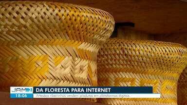 Da floresta para a Internet: artesãos ribeirinhos vendem produtos em plataformas digitais - Material é oriundo de Iranduba, a 70 km de Manaus.