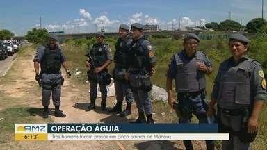 Três homens são presos durante operação da Polícia Militar em Manaus - Suspeitos foram indiciados por porte de arma e assaltos.
