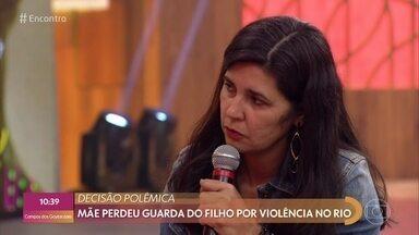 Rosilaine perdeu a guarda do filho por morar em comunidade considerada violenta - Juiz considerou que menor de 8 anos deve ficar com o pai, que vive fora do Rio de Janeiro