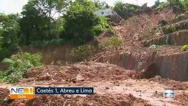 Deslizamento de barreira em Abreu e Lima deixa cinco mortos - Última vítima foi retirada dos escombros na noite da quarta (24); moradores acreditam que muro de arrimo não foi terminado