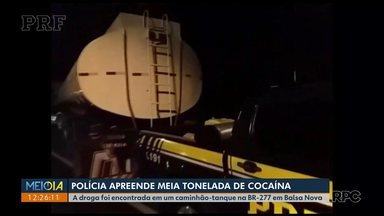 PF e PRF faz nova apreensão de cocaína na Região Metropolitana de Curitiba - Em Balsa Nova foram apreendidos mais de 500 quilos da droga.