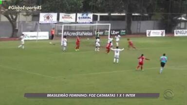 Time feminino do Inter empata pelo Brasileirão contra o Foz Cataratas - Assista ao vídeo.