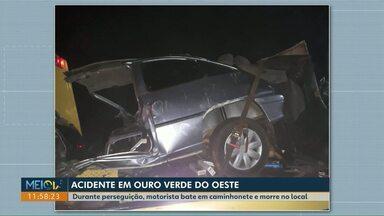 Acidente envolvendo carro carregado com cigarros paraguaios deixa um morto, na PR-317 - Segundo a PM, o homem foi abordado em Vera Cruz do Oeste.