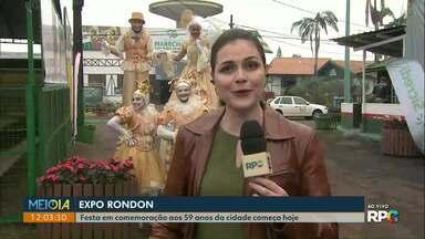 Expo Rondon começa hoje em Marechal Cândido Rondon - O município comemora 59 anos hoje.
