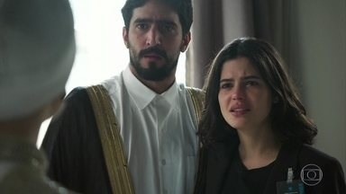 Dalila ameaça Raduan - Ela obriga Jamil a se casar com ela