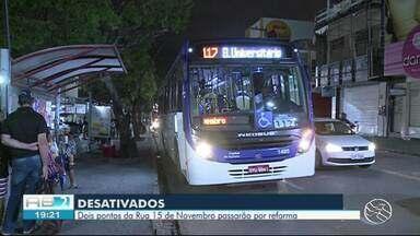 Pontos de ônibus são relocados no Centro de Caruaru - Mudanças vão ocorrer durante obras no Centro.