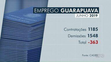 Guarapuava perde 363 postos de trabalho em junho - Dados foram divulgados pelo Caged. Agropecuária foi o setor que mais demitiu do que contratou.