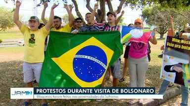 Protestos marcam visita de Bolsonaro a Manaus - Presidente passou por capital nesta quinta-feira (25).