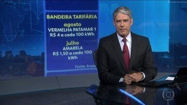 Bandeira tarifária de agosto vai ser a vermelha patamar 1 - Consumidor vai pagar taxa extra de R$ 4 a cada 100 kWh