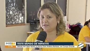 Aterro sanitário de Campo Grande recebe ação para diagnóstico das hepatites virais - Neste domingo é comemorado Dia Mundial de Luta contras as Hepatites Virais.